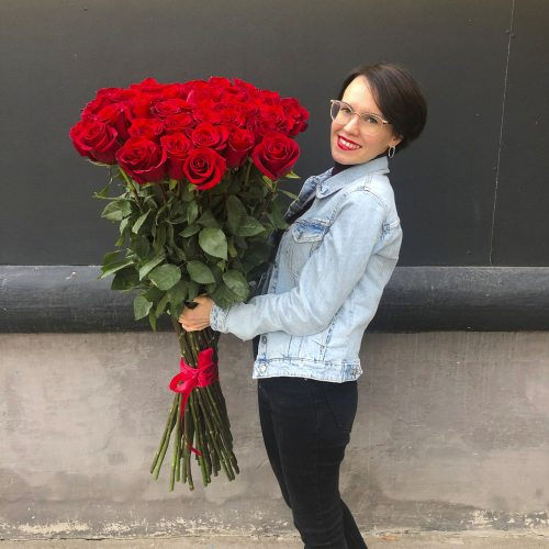 51 роза 110 см
