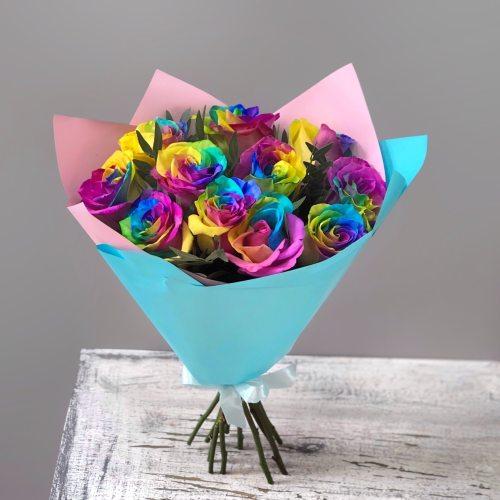 Афродита - 11 радужных роз
