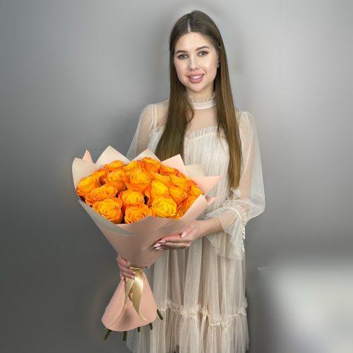 Улыбка - 21 оранжевых роз