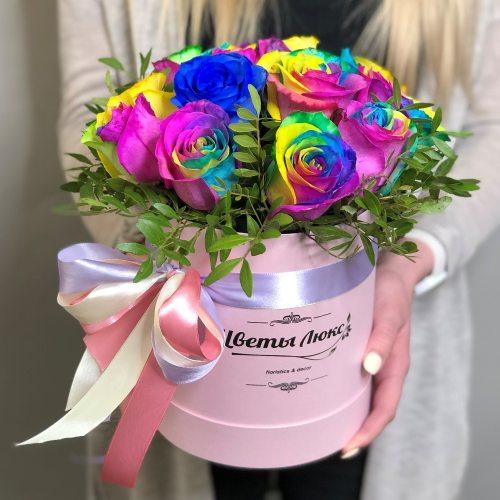 Радужные  Розы Люкс