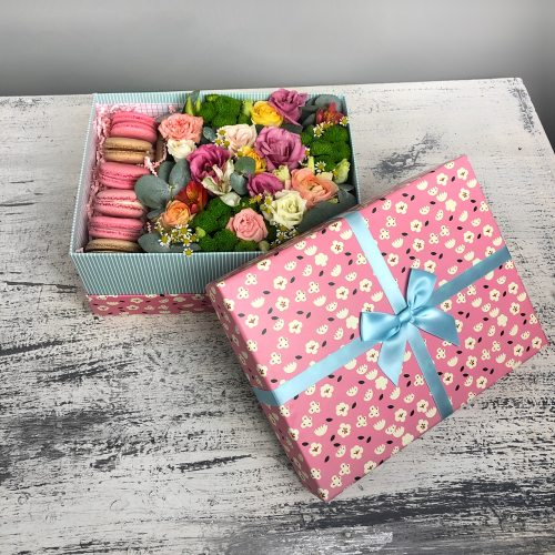 """Цветы с пирожными """"Кокетка"""""""