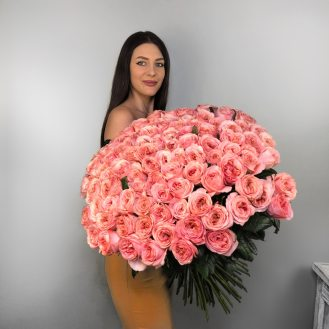 101 пионовидная роза
