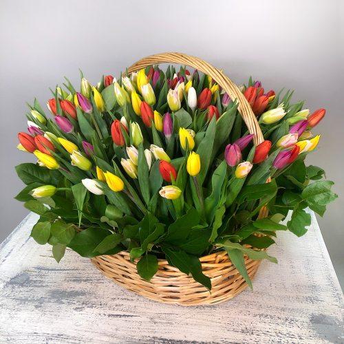 Событие - 151 тюльпан в корзине