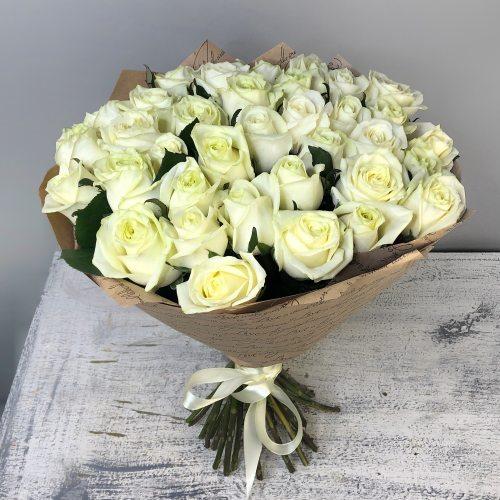 Искренность - 35 белых роз