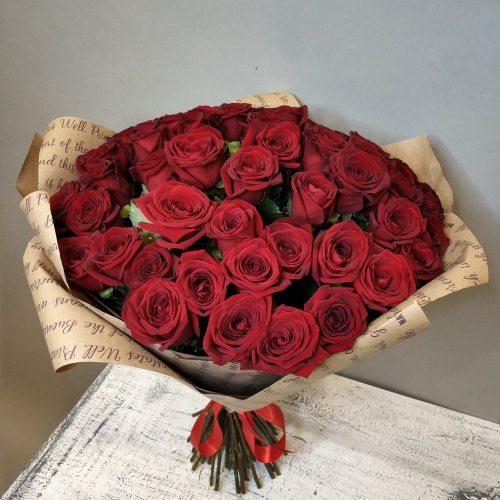 Страстный поцелуй -  51 красная роза
