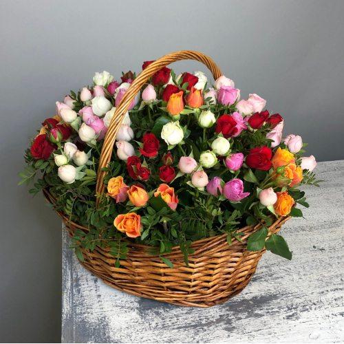 Самая-Самая - Корзина из кустовых роз