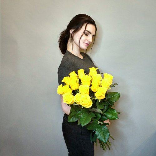 Удачный день - 19 желтых роз