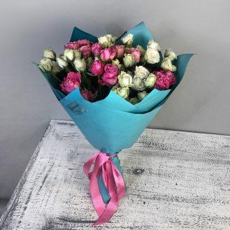 Воздушный поцелуй - 9 кустовых роз