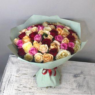 Колибри -  51 роза микс