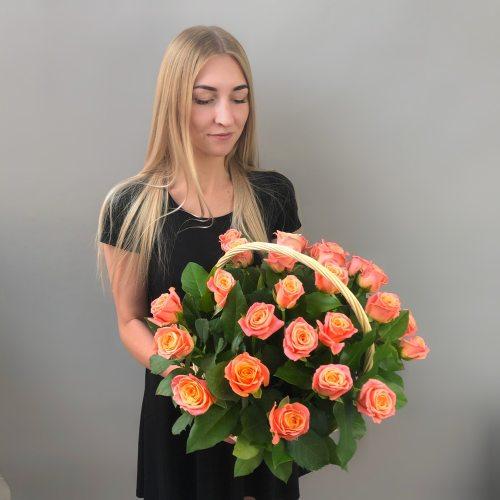 Мисс роза - корзина из 25 роз