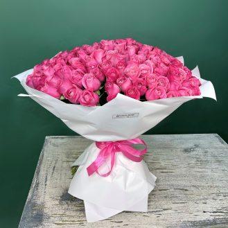 Сказка - 101 розовая роза