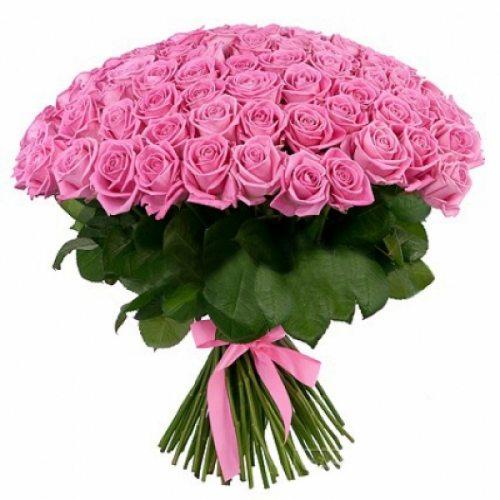 Сказка - 101 розово-сиреневая роза