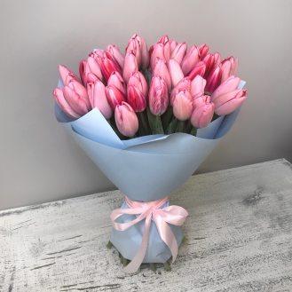 Душа поэта - 51 розовый тюльпан