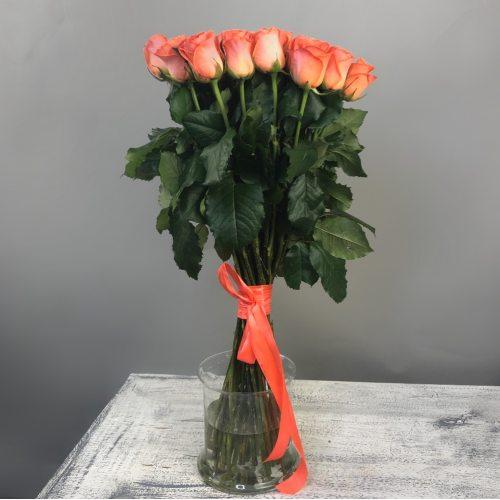 Поверь в мечту - 35 оранжевых роз