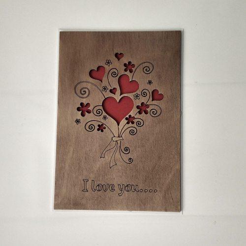 Деревянная открытка №12