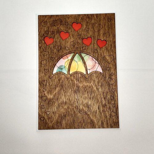 Деревянная открытка №3
