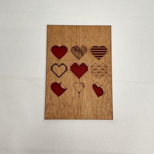Деревянная открытка №4