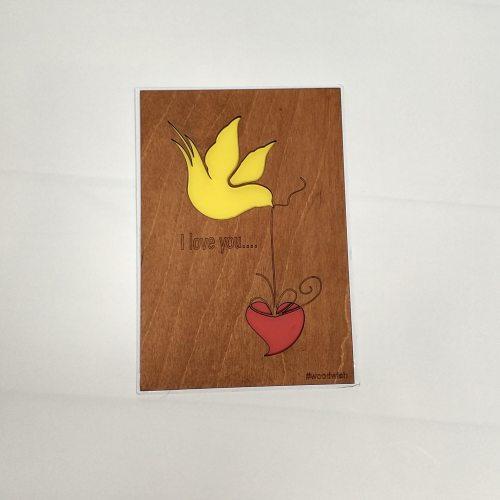 Деревянная открытка №5