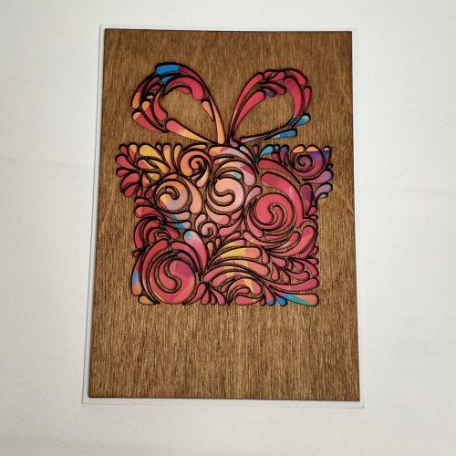 Деревянная открытка №10