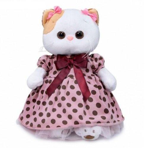 Кошечка в платье в горох 27 см