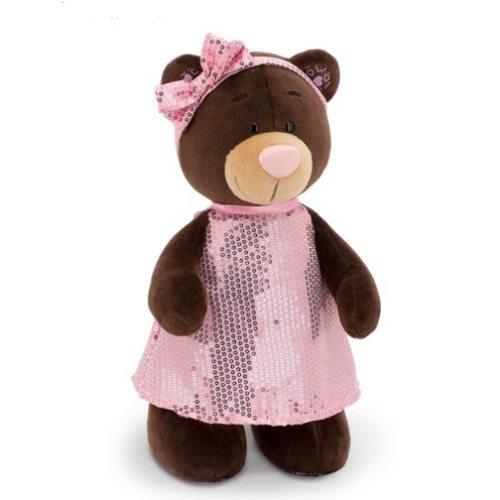 Мишка Milk в розовом платье 25 см