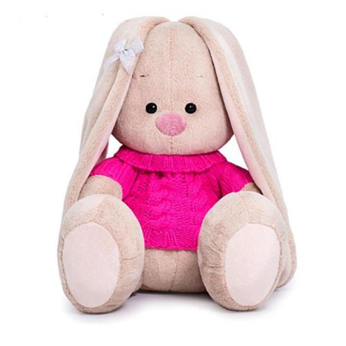 Зайка Ми в розовом свитере 18 см