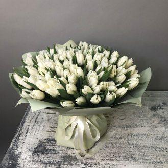 Снежная королева -  101 белый тюльпан