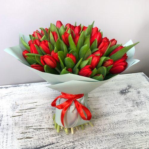 Кармен - 51 красный тюльпан