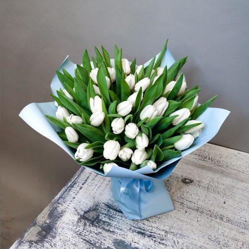 Летний дождь -  51 белый тюльпан