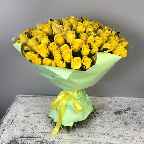 Будь со мной - 101 желтая роза