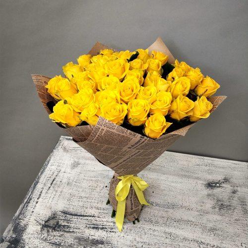 Доброе утро - 51 желтая роза
